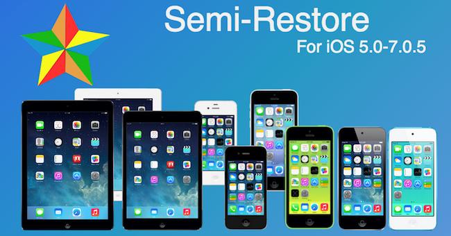 Semi Restore iPhone iOS 7