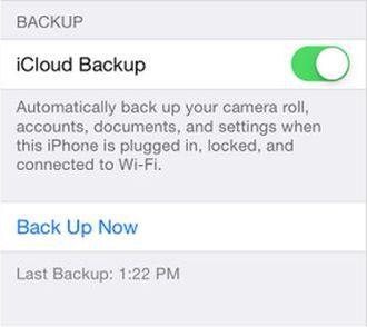 Backup using iCloud