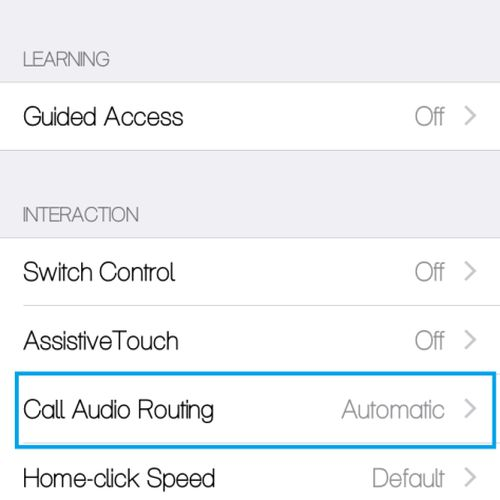 Step 4 for Setting iPhone Speakerphone by Default