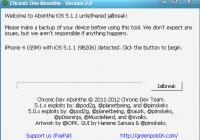 Absinthe 2.0 iOS 5.1.1 Jailbreak Video Tutorial