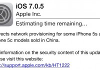 Apple Released iOS 7.0.5 Update for iPhone 5c and iPhone 5S