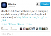New iFaith 1.5.6 for SHSH Blobs Dumping and iOS 6.1.3 Downgrading