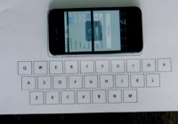 Virtually Type Text Using Invisible Keyboard for iPhone