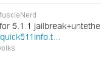 Quick Info Sheet From MuscleNerd About iOS 5.1.1 Jailbreak | Untethered