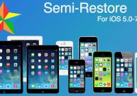 Semi Restore iPhone iOS 7 Full Support [Save Jailbreak]