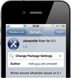 unlock iOS 5.1 using ultrasn0w fixer