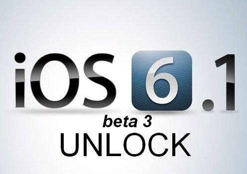 unlock ios 6.1 beta 3