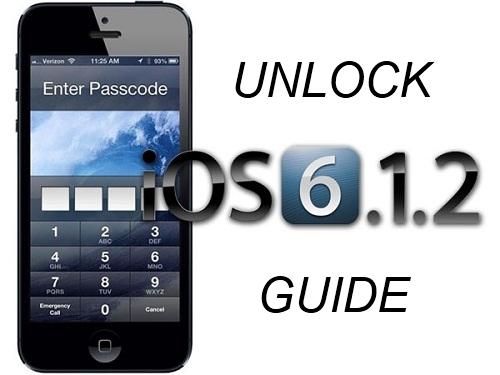 unlock ios 6.1.2