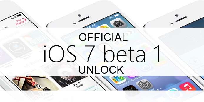 unlock ios 7 beta 1