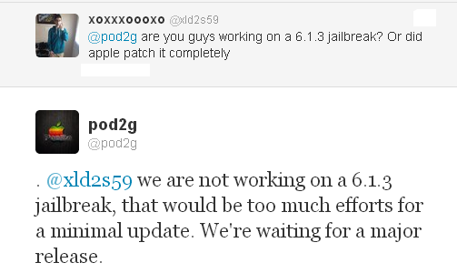 untethered jailbreak ios 6.1.3 pod2g