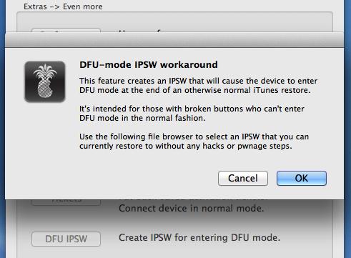 use dfu ipsw