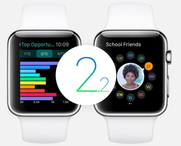 watchOS 2.2 Beta 2 Apple Watch