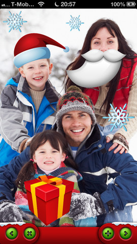 Free Xmas iPhone App to Modify Your Holiday Pictures